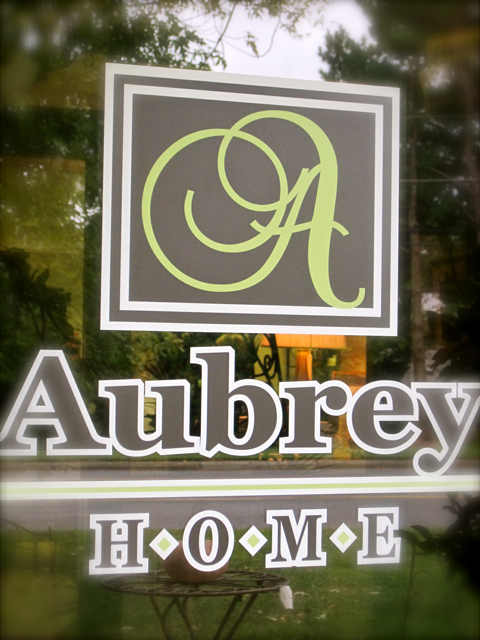 At home at Aubrey Home, or, a new decor store in town!