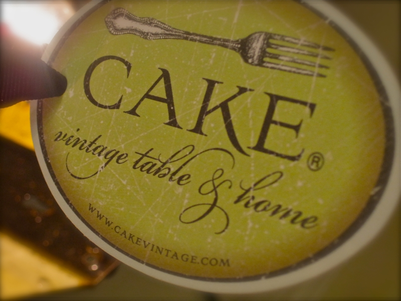 Taking the Cake at Cake, or, Decidedly Delicious Vintage & Home Accessories!